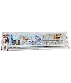 No.2023 A4尺寸裁紙套組 (滾動式裁紙刀+滑軌+A級切割板+壓克力尺)