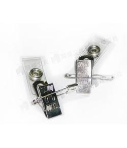 吊夾 | 鈕扣夾-附別針 鐵製(1入) 識別證夾 | 證件夾
