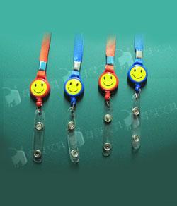 證件帶 | 吊掛帶 | 證件夾 (微笑圖案) 鈕扣式 50入