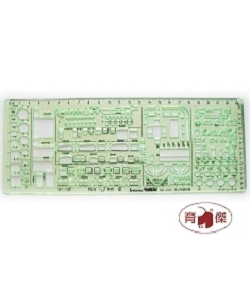 金絲猴No.4324 雙比例建築模板 1:100, 1:200