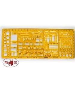金絲猴No.4372 雙比例建築模板 1:100 1:200