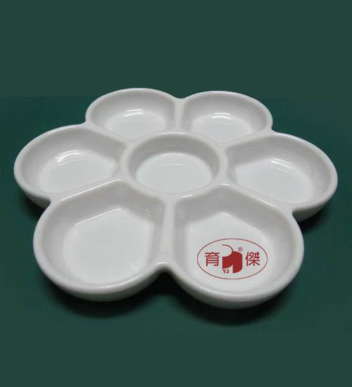 厚重型梅花盤 (仿瓷盤) #935 白色
